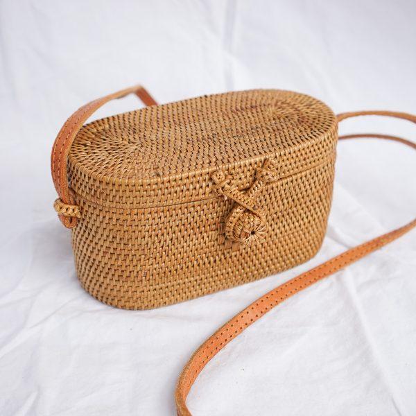 Oval Rattan Bag