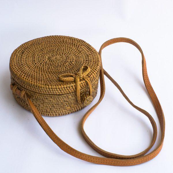 Mini Round Rattan Bag