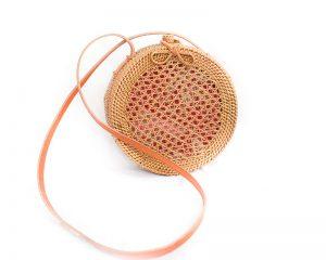 Mesh Round Rattan Bag