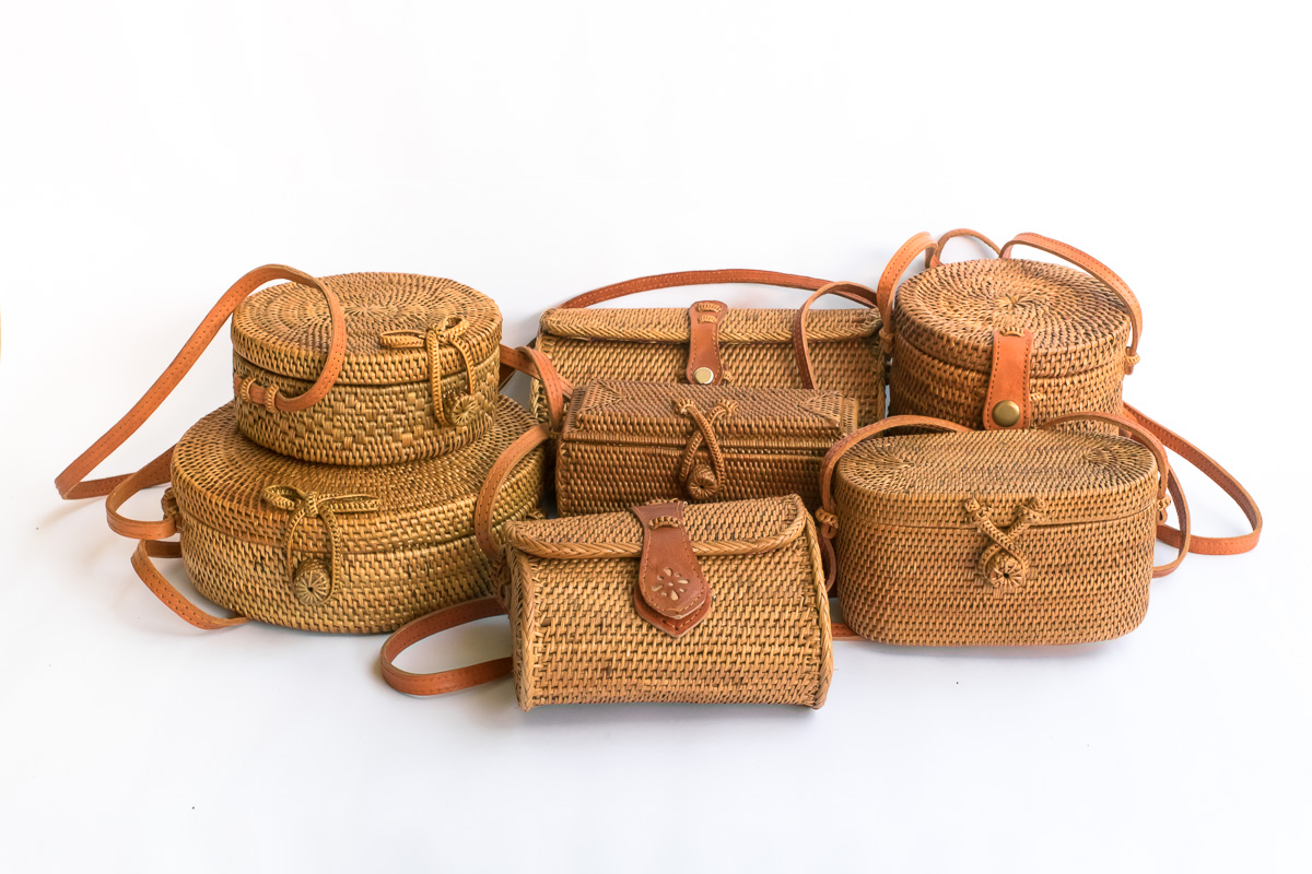 How Are Bali Round Rattan Basket Bags Are Made