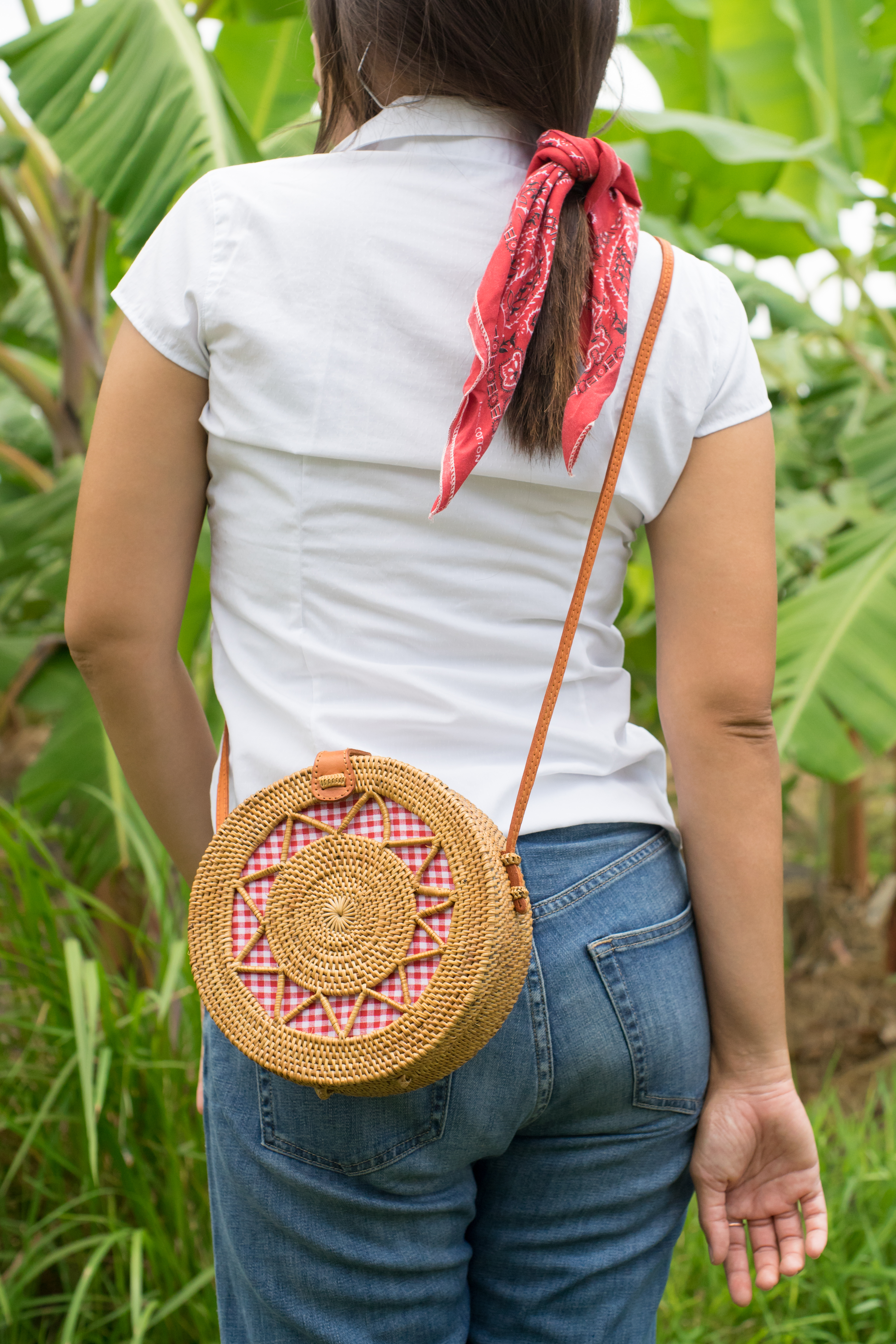 Stella Rattan Straw Basket Bag