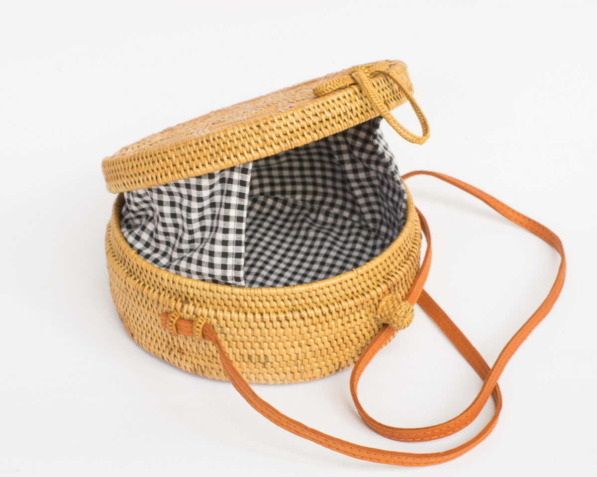 Red Gingham Wicker Straw Bag aced89b369dc4