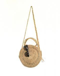 Rustic Round Palm Bag