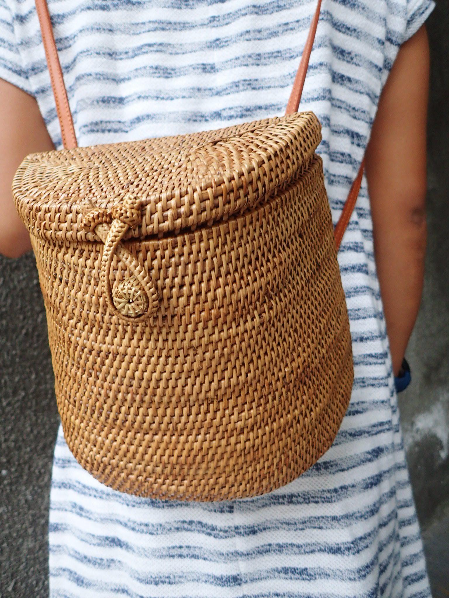 Rattan Basket Backpack