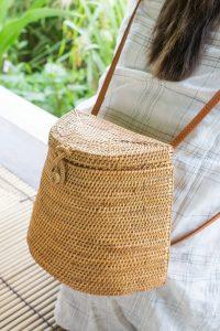 Cute Rattan Straw Backpack